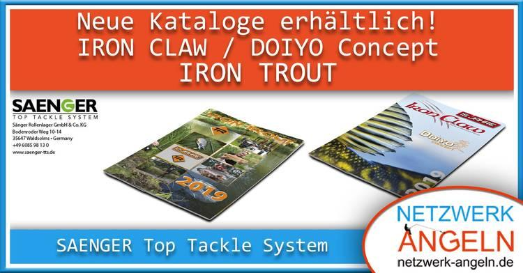 SAENGER Top Tackle System - Neue Kataloge IRON CLAW, DOIYO Concept und IRON TROUT